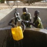 kids and water in Africa