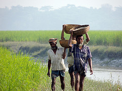 Returning from fishing, Bangladesh. Photo by Mahabubur Rahman, 2012.