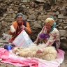 Tajik women involved in fiber processing (photo Liba Brent)