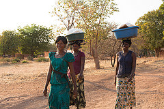 Walking fish to market, Kamimbi village, Lake Kariba Zambia. Photo by Ryder Haske, 2013.