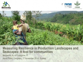 Measuring Resilience in Production Landscapes and Seascapes: a tool for communities