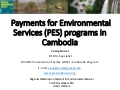 Payments for Environmental Services (PES) programs in Cambodia