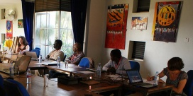 ILRI scientists at the inception workshop of the mPig project